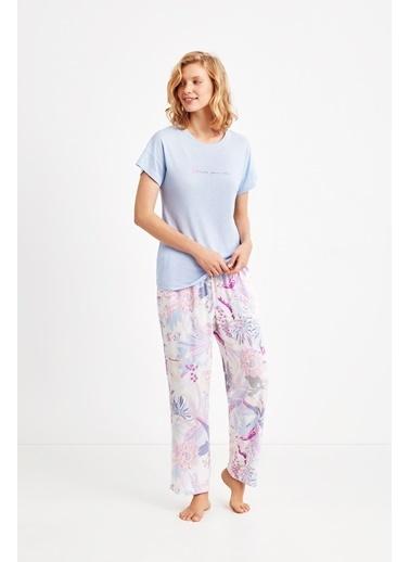 Catherines 1830 Pijama Takım Mavi